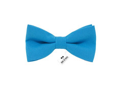 Buy this discounted product Bow Tie House Men's Pre-Tied Bow Tie in Classic Gabardine (Medium, Deep blue) on Amazon