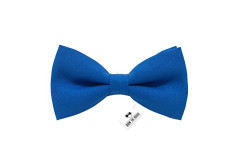 Buy this discounted product Bow Tie House Men's Pre-Tied Bow Tie in Classic Gabardine (Small, Natural Blue) on Amazon