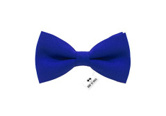 Buy this discounted product Bow Tie House Men's Pre-Tied Bow Tie in Classic Gabardine (Medium, Electric Blue) on Amazon