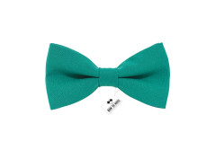 Buy this discounted product Bow Tie House Men's Pre-Tied Bow Tie in Classic Gabardine (Medium, Green Teal) on Amazon
