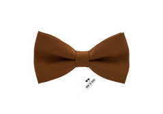 Buy this discounted product Bow Tie House Men's Pre-Tied Bow Tie in Classic Gabardine (Medium, Brown) on Amazon