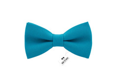 Buy this discounted product Bow Tie House Men's Pre-Tied Bow Tie in Classic Gabardine (Medium, Avalon Teal) on Amazon