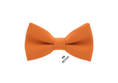 Buy this discounted product Bow Tie House Men's Pre-Tied Bow Tie in Classic Gabardine (Medium, Orange) on Amazon