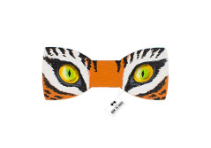Buy this discounted product Bow Tie House Tiger Eyes bow tie painted on wood unisex pre-tied shape (Medium, Tiger Eyes) on Amazon