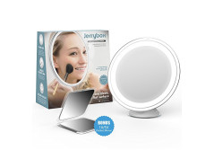 Buy this discounted product Jerrybox Makeup Mirror 7X Magnifying Lighted Makeup Mirror with Free Pocket Mirror Included… on Amazon