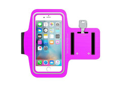 """Buy this discounted product Water Resistant Sports Training, Running, Hiking Armband With Safety Reflective Stripe For iPhone 6S Plus,Samsung Galaxy Edge 7S, Note 5 - 2 Sizes 4.7""""-5.5"""" (Pink, 5.5"""") on Amazon"""