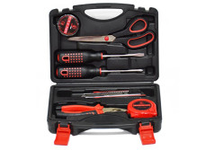 """Screwdriver,Precision Tools Household Tool Kit,Bolt driver, (7tools)Including Screwdrivers, PVC Insulation Tape, 6""""Combination Pliers, Measuring Tape(5m), Utility Knife, Scissors, Blow Case Packaging"""