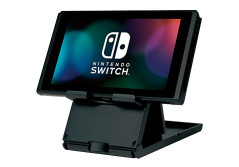 Buy this discounted product LOGIX Compact, Collapsible Playstand for Nintendo Switch, Height Adjustable, Portable - Black on Amazon