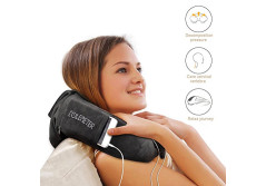Buy this discounted product Travel Neck Pillow Neck Support Pillow Memory Foam Soft - Compact Folded in a Handy Carry Pouch , Gray on Amazon