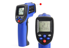 Buy this discounted product COLEMETER 1652 Non-contact Digital Infrared Thermometer Temperature Gun -58 °F ~ 1652°F (-50℃ ~ 900℃) , with Temperature Unit & MAX Display Function , Blue - Battery Included on Amazon