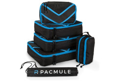 Buy this discounted product ✅ PACMULE - 6pc Packing Cube Travel Set with Accessories Organiser & Laundry Bag (Blue) on Amazon
