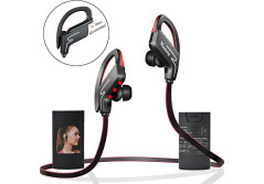 Buy this discounted product Bluetooth Headphones Vodabang IPX4 Sweatproof Wireless Sport Earphones with Mic Volume Control for Gym Running Workout 8 Hour Battery Noise Cancelling Black-Red on Amazon