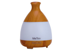 Buy this discounted product Me Too Aromatherapy Diffuser 120ml Ultraschall-Luftbefeuchter Cool Nebel ätherisches Öl Diffusor mit farbigem LED-Licht für Haus, Baby-Raum, SPA-Wood Grain on Amazon
