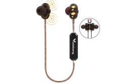 Buy this discounted product Bluetooth Headphones Vodabang High Definition Dual Dynamic Driver Magnetic Heavy Bass Wireless Earbuds Sport In-Ear Sweatproof Earphones with Mic Black on Amazon