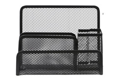 Buy this discounted product Desk Supplies Organizer Caddy Mesh Collection Pencil Holder, Black (Black) on Amazon