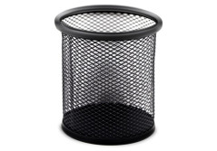 Buy this discounted product Desk Supplies Organizer Caddy Mesh Collection Pencil Holder, Black (cylinder black) on Amazon