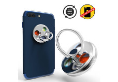 Buy this discounted product Ring Stands with Hand Fidget Spinner Knob Portion Function for Smart Cellphone Mount (Silver) on Amazon