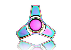 Buy this discounted product 3-5 Mins Hand Fidget Spinner Stress Relief Toy, Colourful Aluminum Alloy Hand Spinner Rinbow Electroplating Metal EDC Fidget Toy Stress Reducer Made Bearing Focus Anxiety Relief Toys for Killing Time on Amazon