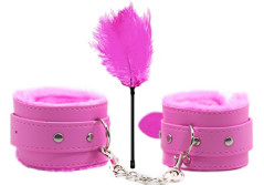Buy this discounted product Hll Mart Sexual Sportive Restraints Bondage Soft Wrist Handcuffs (pink 2 set) on Amazon
