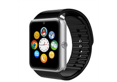 Buy this discounted product Corado Hill Bluetooth Smart Watch with Camera Pedometer SIM Card and Media Card Slots Activity Tracker for All Android 4.2 and iPhone Smartphones (Silver) on Amazon