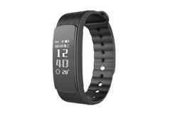 Buy this discounted product CORADO HILL Wireless Fitness Activity Tracker Heart Rate Monitor Bluetooth Waterproof Health Monitor Pedometer Calorie and Step Counter for Android and IOS (black) on Amazon
