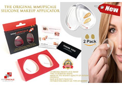 MMUPSCALE - The Original Silicone Sponge Foundation Makeup Applicator - 2 Different Premium Shapes of Silisponges Beauty Blender Applicators - The Best Alternative for Foundation Makeup Brush.