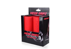 Mega Gripz - Thick Bar Hand Fat Grips Training Increase Arm Size Growth Muscle Workout Build Bigger Forearms Biceps Triceps Chest Grip Strength Dumbell Barbell Kettlebell Crossfit Bodybuilding Fitness