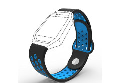 Buy this discounted product Accessories for Fitbit Blaze Band Strap,Gel Soft Silicone Replacement Sport Band for Fitbit Blaze Smart Fitness Watch (Black&Blue, 5.1-6.9 inch) on Amazon