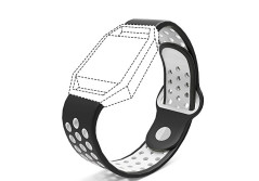 Buy this discounted product Accessories for Fitbit Blaze Band Strap,Gel Soft Silicone Replacement Sport Band for Fitbit Blaze Smart Fitness Watch (Black&White, 5.1-6.9 inch) on Amazon