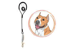 Buy this discounted product WATFOON - Short Leash for Large Dogs, Chew Resistant Multi-Strand Steel Wire with Bungee Buffer Spring for Heavy Duty Dogs' Traning/Walking (18inch/ 45cm) (Black) on Amazon