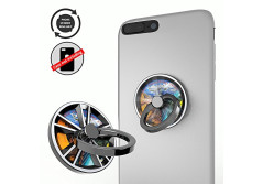 Buy this discounted product Cellphone Ring Stands Finger Phone Holder Knob Portion Function for Smart Cellphone Mount (Silver) on Amazon