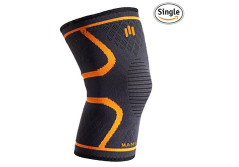Buy this discounted product Knee Compression Sleeve Support for Woman Men, Brace for Arthritis, Running, Basketball, Crossfit, Powerlifting, Cycling, Joint Pain Relief, Five Sizes, Single Wrap on Amazon