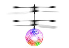 Buy this discounted product RC Toy Flying Ball, Infrared Induction Helicopter Ball Built-in Shinning LED Colorful Lighting on Amazon