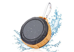 Buy this discounted product Shower Speaker Wireless Outdoor Speakerphone - Hcman Enhanced Bass ,Bluetooth 4.0 Portable Waterproof Speaker,Handsfree Portable Speakerphone, Suction Cup, Built-in Mic on Amazon
