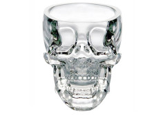Buy this discounted product Glow Castle Creative skull glass creative skull cup vodka spirits cup glass new Crystal Skull cup (transparent) on Amazon