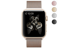 Buy this discounted product Thmeth Milanese Stainless Steel Replacement Band with Magnetic Closure Clasp for Apple iWatch Sport & Edition (38mm-Gold) on Amazon