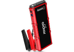 Buy this discounted product 800A Peak 19800mAh Car Jump Starter Portable Car Battery Jump Starter, Power Bank, Built-in LED Flashlight with Car Jumper Cables Heavy Duty on Amazon