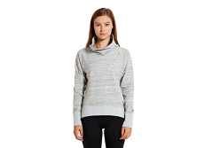 Buy this discounted product etonic Women's FLX Pullover Cowl Sweater, Grey Heather, X-Small on Amazon