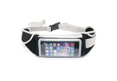 Buy this discounted product Running Belt for Mens Women Slim Fit Belt with Touch Screen Holds all IPhones 7/7 Plus 6/6s/6 Plus Accessories Lightweight Black Running Belt Case Holder Waist Pack for Samsung Galaxy on Amazon