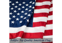 Buy this discounted product American Flag: Top Quality 3X5Ft US Flag- Heavy-Use Nylon w/ Embroidered Stars & Sewn Stripes - Deluxe Fast-Dry, All-Weather USA Flag For Outdoors & Indoors- Fly It With Pride on Amazon