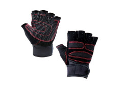 Buy this discounted product Unisex Mens Womens Sports Fitness Half Finger Cycling Biking Gym Mountain Bike Riding Training Gloves for Outdoor Sports Exercise Protection on Amazon