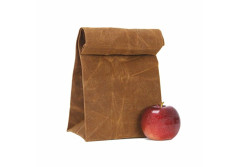 Buy this discounted product Lunch Bag Waxed Canvas brown, Waterproof Material, Eco-Friendly, Heavy Duty, Durable, Natural, Gift-able, Washable, and Mess Proof. Perfect for Men, Women, Children to carry food. on Amazon