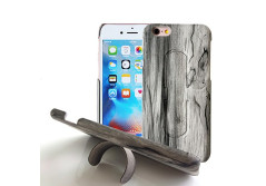 Buy this discounted product Phone Cases iPhone 6, Invisible Phone Mount Kickstand, Wood Leather Design Phone Holder. on Amazon