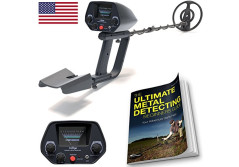 Buy this discounted product NHI Metal Detector Starter Kit - Metal Detectors Waterproof Coil Measures 7.5 Inches - Sensitivity Adjust & Discrimination - Includes 72 Page Beginners Guide & Folding Shovel on Amazon