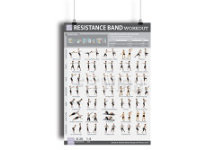"Buy this discounted product Resistance Band/Tube Exercise Poster NOW LAMINATED - Total Body Workout Fitness Chart - Strength Training - Gym/Home Fitness Training Program for Elastic Rubber Tubes and Stretch Band Sets - 19""X27"" on Amazon"