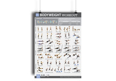 "Buy this discounted product Bodyweight Exercise Poster - NOW LAMINATED - Personal Trainer Gym/Home Workout Plans for Women - Weight-Free Workout - Abs, Legs, Butt, Strenth Training - Exercise Programs ""19X27"" Workout Chart on Amazon"