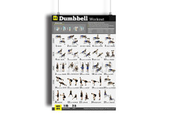 "Buy this discounted product Dumbbell Exercises Workout Poster - NOW LAMINATED - Home Gym - Workout Plans for Men - Free Weights - Strength Training Routines - Build Muscles - Fat Loss - Fitness - Bodybuilding Guide 18""X24"" on Amazon"