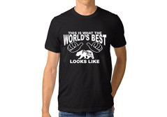 Buy this discounted product Mivyy Father's Gift The World's Best Papa Bear Funny 100% Contton T-Shirt For Men on Amazon