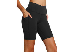 FIRM ABS Power Flex Yoga Shorts for Women Tummy Control Workout Running Shorts Pants Yoga Shorts With Three Pocket (XXL, Black)
