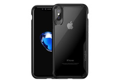 Buy this discounted product iPhone X Case, Vivafree [Transparent Series] Premium Hybrid Slim Fit Crisp Clear Non Slip Protective Cover Case [Supports Wireless Charging] for Apple iPhone X / iPhone 10 (2017 Release) - Red on Amazon